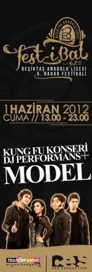 Beşiktaş Anadolu Lisesi Festivali Model-Kung Fu afiş