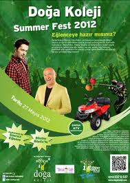 Doğa Koleji Book'n Roll Summer Fest 2012 Murat Boz afiş