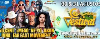 Vestival: 50 Cent – Sky Blu Of LMFAO – Ne-Yo – İnna – Akon – Konseri afiş
