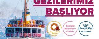 Eyüp Belediyesi Vapurla Boğaz Turu Seferleri Başlıyor afiş