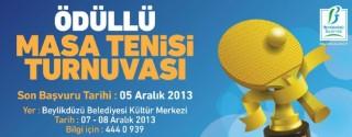 Ödüllü Masa Tenisi Turnuvası afiş