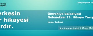 Ümraniye Belediyesi Geleneksel 11.Hikaye Yarışması 8 Bin TL Para Ödüllü afiş