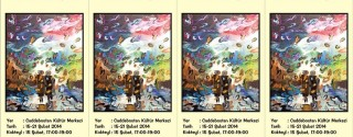 Aysel Özkan Renklerin Dansı Resim Sergisi afiş