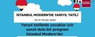 İstanbul Modern Yarıyıl Tatil Etkinlikleri afiş