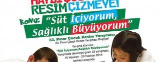Pınar Çocuk Resim Yarışması afiş