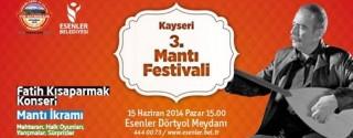 Fatih Kısaparmak Konseri ve Mantı Festivali afiş