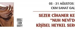 Sezer Cihaner Keser Kişisel Heykel Sergisi afiş