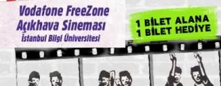 Vodafone FreeZone Açıkhava Sineması İstanbul Bilgi Üniversitesi'nde afiş