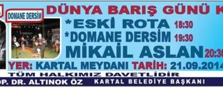 Dünya Barış Günü Konserleri afiş