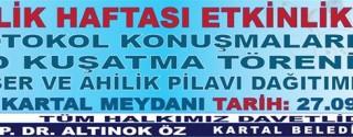 Kartal Belediyesi Ahilik Haftası Etkinlikleri afiş