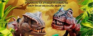 Tiyatrocu Dinozorlar Trump AVM'de afiş