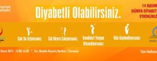 14 Kasım Dünya Diyabet Günü Etkinlikleri afiş