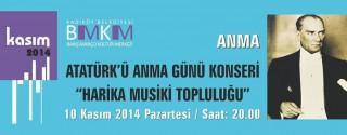 Atatürk'ü Anma Günü Konseri afiş