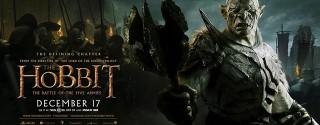 Hobbit Beş Ordunun Savaşı Sinema afiş