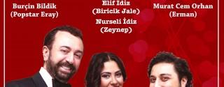 Sevgililer Gününe Özel Yemekli Kabare Valentin'de afiş