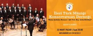 İleri Türk Müziği Konservatuarı Derneği Konseri afiş