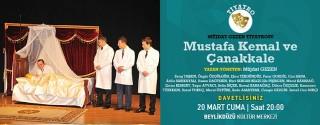 Mustafa Kemal ve Çanakkale Tiyatro afiş