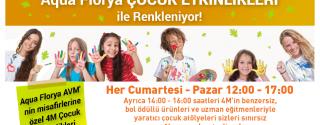 Haftasonları Aqua Florya Çocuk Etkinlikleri İle Renklenecek afiş