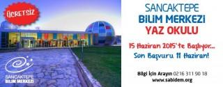 Sancaktepe Bilim Merkezi Yaz Okulu afiş
