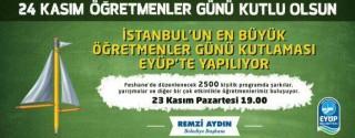İstanbul'un En Büyük Öğretmenler Günü Kutlaması afiş