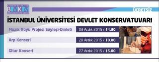 İstanbul Üniversitesi Devlet Konservatuvarı afiş