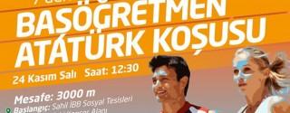 Başöğretmen Atatürk Koşusu afiş