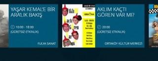 Beşiktaş Belediyesi Ücretsiz Etkinlikler afiş