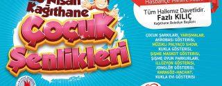 Kağıthane Belediyesi 23 Nisan Şenlikleri afiş