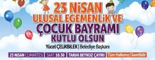 Beykoz Belediyesi 23 Nisan Etkinlik afiş