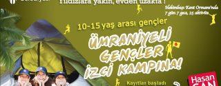 Ümraniyeli Gençler İzci Kampına afiş
