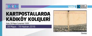 Karpostallarda Kadıköy Kolejleri Sergi afiş