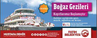 Fatih Belediyesi Boğaz Gezileri Başlıyor! afiş