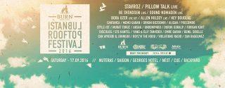 Burn İstanbul Rooftop Festival afiş