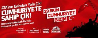 Şişli 29 Ekim Cumhuriyet Bayramı afiş