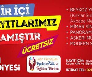 Fatih Belediyesi Şehir İçi Gezi Kayıtları Devam Ediyor