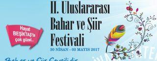 II.Uluslararası Bahar ve Şiir Festivali afiş