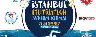 İstanbul ETU Triatlon Avrupa Kupası afiş
