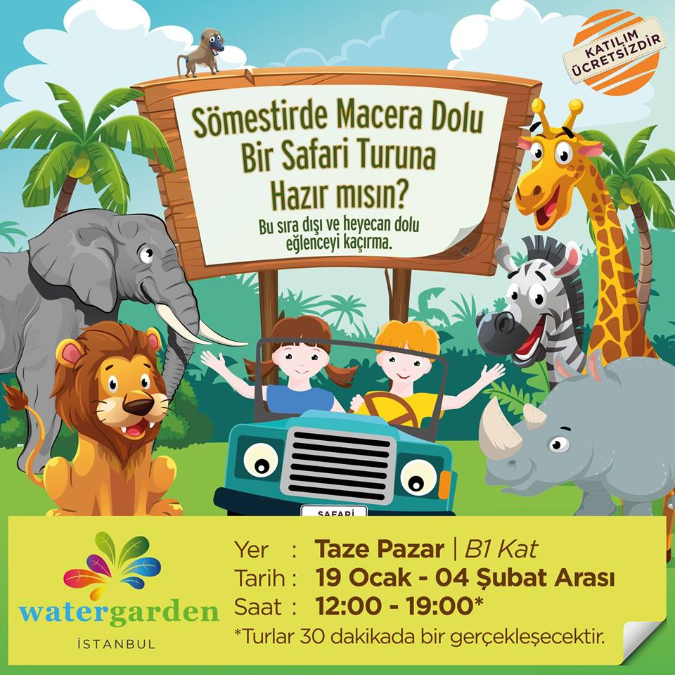 Sömestirde Macera Dolu Bir Safari Watergarden'de!