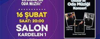 Ustalar İle Oda Müziği Konseri afiş