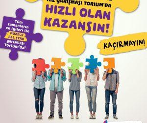 4.Türkiye Puzzle Hız Yarışması Torium'da!