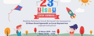 Beşiktaş 23 Nisan Çocuk Karnavalı afiş