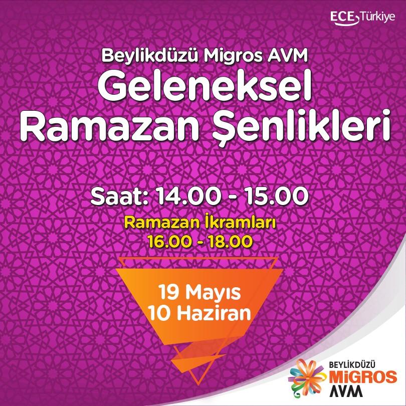 Beylikdüzü Migros AVM'de Ramazan Etkinlikleri