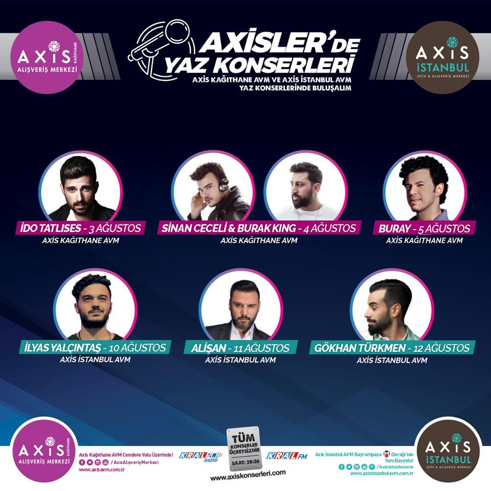 Axis AVM'de Yaz Konserleri Ücretsiz