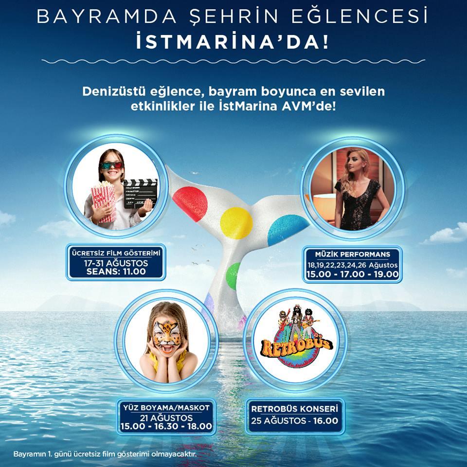 Bayram'da Şehrin Eğlencesi İSTMarina'da!