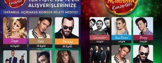 İsfanbul Açıkhava Konserleri afiş