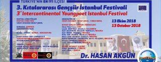 3.Kıtalararası Gençşiir İstanbul Festivali afiş