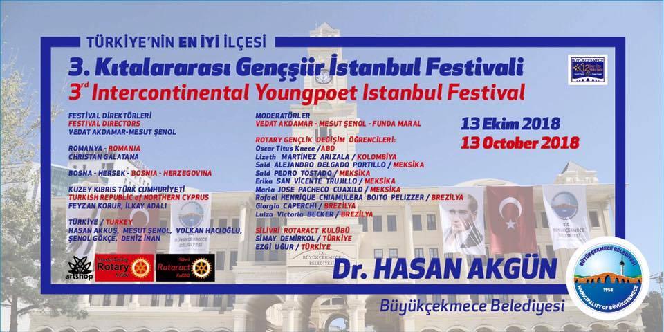3.Kıtalararası Gençşiir İstanbul Festivali