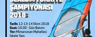 Rüzgar Sörfü Slalom Türkiye Şampiyonası afiş