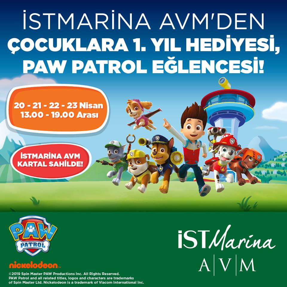 Paw Patrol İSTMARİNA AVM'de!