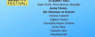 Uluslararası İstanbul Şiir Ve Edebiyat Festivali afiş